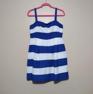 Loft striped linen blend dress size 6P